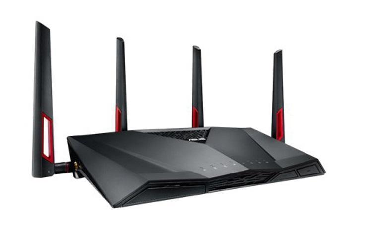 5GHZ 1300 Mbps /& 2.4GHZ 600Mbps, 3*3dBi Antenne Dual Band Esterne, 1 porta USB3 3.0, VPN, Controllo APP, Beamforming+, QoS, MU-MIMO Tenda AC18 AC1900 WLAN Dual Band Gigabit Router Nero